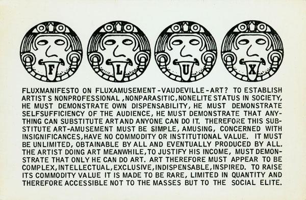 Manifesto Fluxus 1971