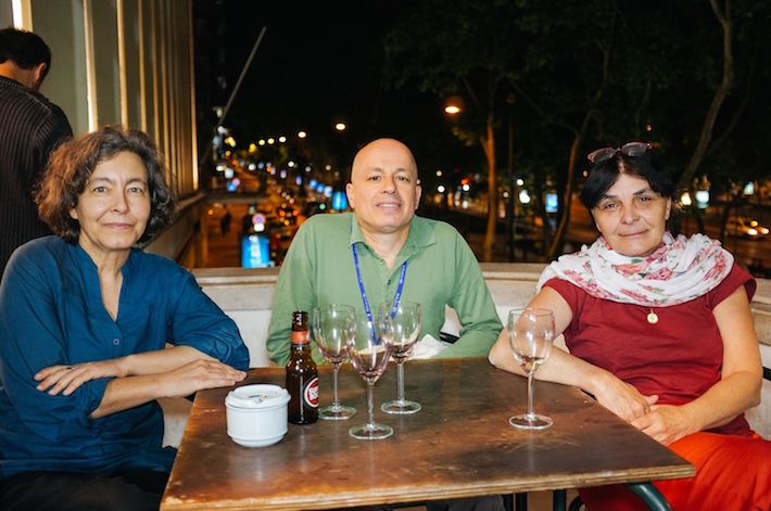 O júri internacional do IndieLisboa International Film Festival. Da esquerda para a direita: Margarida Cardoso, Ariel Schweitzer e Marie Pierre Duhamel.