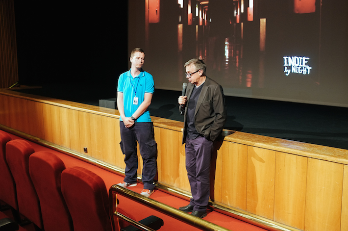 "Q&A de Michael Pattison a Heinz Emigholz na 2ª sessão do seu filme ""The Airstrip"""